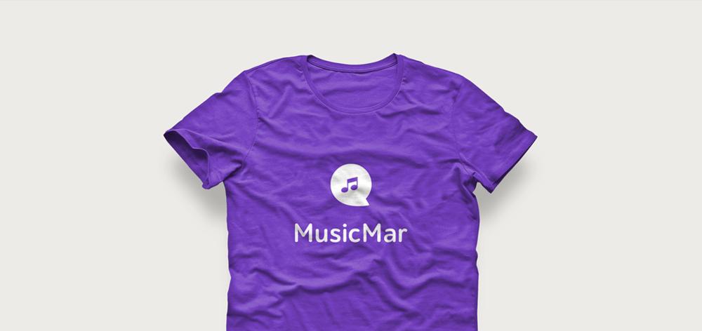 Логотип MusicMar на футболке
