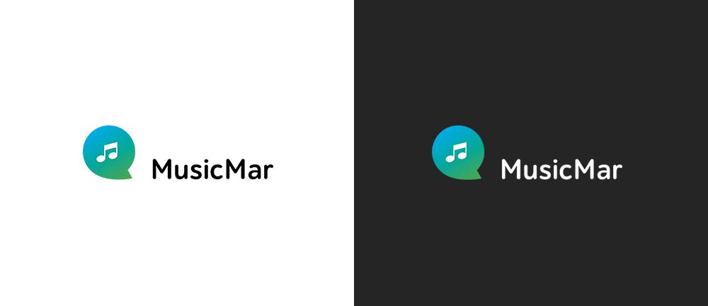 Черный и белый варианты логотипа MusicMar